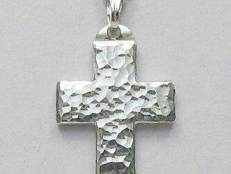 槌目光沢仕上げの幅広のギリシャ十字架 gc08 新作ですの画像