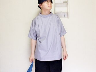SMOCKNECK | GRAY BANSHU-ORI / FREESIZE,UNISEXの画像