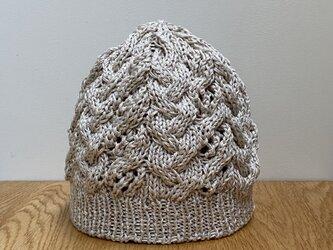 コットン100% ニット帽の画像