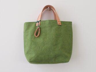 手染め帆布トートバッグSサイズ □草緑色□の画像