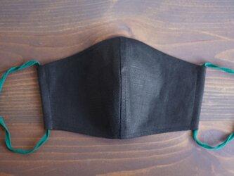 【ブラック/立体マスク】数量限定! 夏向き 薄手 リネンマスク  抗菌 防臭 速乾 布マスク【ネコポス可】z021g-bck1の画像