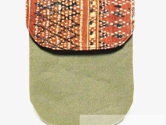 足袋ケース(インドネシア更紗古布)の画像