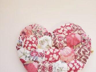 ハートのミニポーチ 濃ピンクの画像