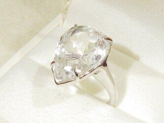 T様、オーダー品_21.15ctヒマラヤ水晶とSV925の指輪(リングサイズ:21号、ロジウムの厚メッキ、クォーツ)の画像