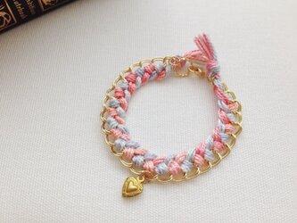 チェーンブレスレット(pink)の画像