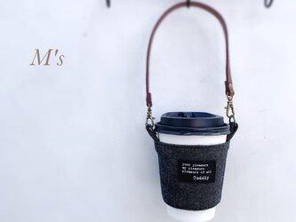 【ブラックジーンズ】夏 お洒落に可愛く持ち歩き♪M'sのドリンクホルダー(持ち手付き)リューザブルカップの画像