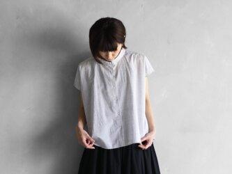 コードレーンフレンチスリーブワイドブラウス(トップ糸グレー)【レディス】の画像