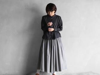 オーガニックコットンロングスカート(ライトグレー)【レディス】の画像