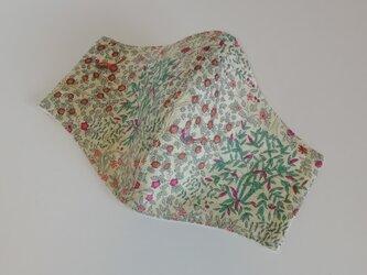 麻のリバティプリントの立体マスク(J-カラフル)の画像
