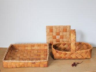 白樺のパンかごセット 角型の画像