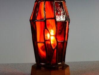 赤いガラスのランプ Ⅱの画像
