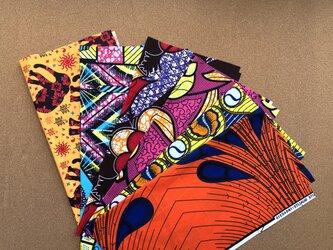 e127-アフリカ布端切れ6枚セットの画像