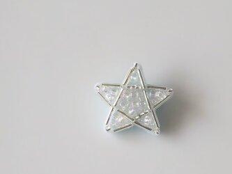 銀色のにばん星 ブローチの画像