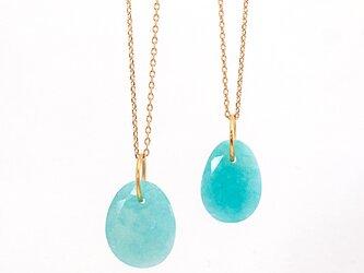 Amazonite charm necklaceの画像