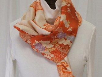 アンティーク羽織裏からストール 絹の画像