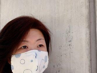 ★受注製作★ 【大きめ】涼しげな立体マスク シャボン玉の画像