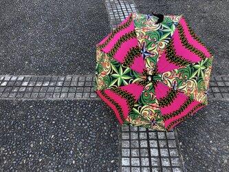 e141-アフリカ布日傘の画像