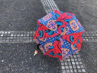 e142-アフリカ布日傘の画像
