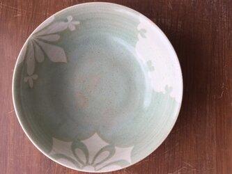 大鉢 釉彩雪紋 緑の画像