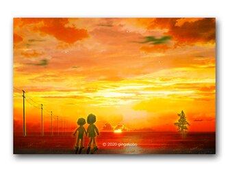 「いつでも優しかった、あの場所」 ほっこり癒しのイラストポストカード2枚組 No.1056の画像