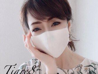 【普通サイズ】自然な風合い♪「生成り色」☆涼しく敏感肌にも優しいダブルガーゼのシンプル立体マスクの画像