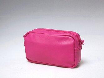 本革ミニポーチ(ピンク)の画像