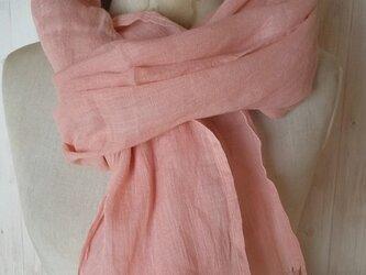 しっとり気持ちいい竹布ストール インド茜染  草木染めの画像