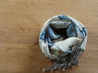 【手織り】木綿のストール#14の画像