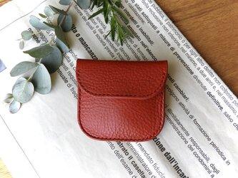 イタリア革のコインケース/赤の画像