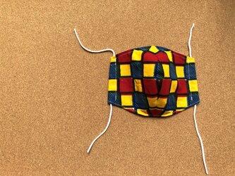 e137-アフリカ布マスクの画像