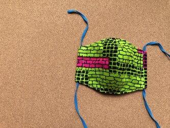 e138-アフリカ布マスク厚手タイプの画像