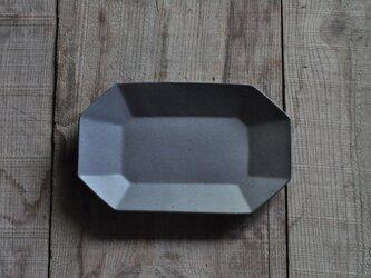 八角長7寸皿/グレーの画像