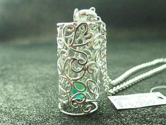 A様ご注文品:銀のアラベスクネックレス(ガラス玉付)の画像