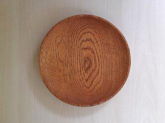 拭き漆の丸皿の画像