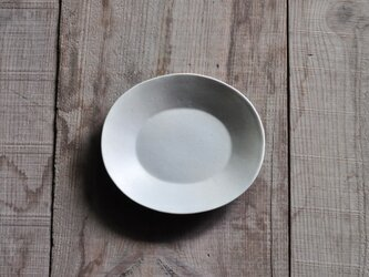 楕円5寸皿/白の画像