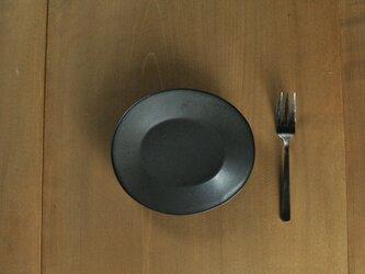 楕円5寸皿/チャコールの画像