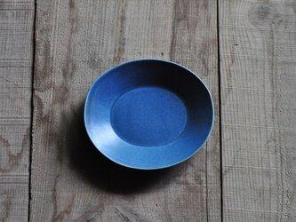 楕円5寸皿/青の画像