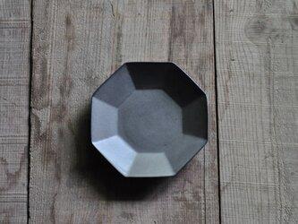 八角4.5寸皿/グレーの画像