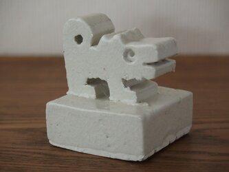 干支 戌 犬 オブジェ 白磁 送料込み価格の画像