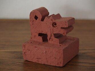 干支 戌 犬 オブジェ 無釉レンガ色 送料込み価格の画像
