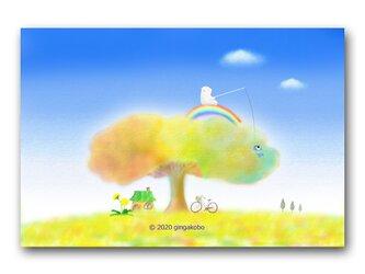 「の~んびりしよっと(^^♪」 ほっこり癒しのイラストポストカード2枚組 No.1057の画像