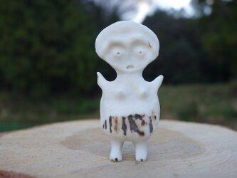 【角偶】T/鹿角から削り出した人形(ひとがた)/お守りの画像