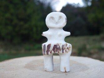 【角偶】U/鹿角から削り出した人形(ひとがた)/お守りの画像