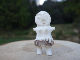 【角偶】V/鹿角から削り出した人形(ひとがた)/お守りの画像