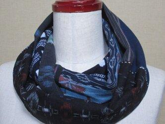 着物リメイク 上布(麻)×久留米絣×有松鳴海絞りの着物などのコラボスヌード  の画像