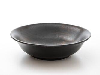 黒拭き漆 深皿(中)の画像