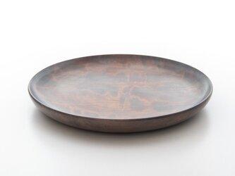白拭き漆 平皿(中)の画像