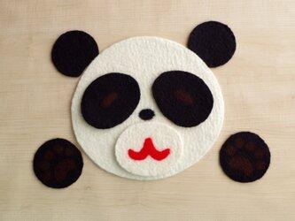 遊べるマット&コースター パンダの画像