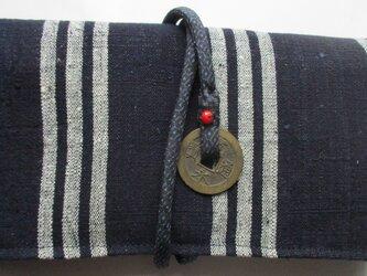 4845 縞の着物で作った和風財布・ポーチ #送料無料の画像