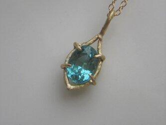 ミントブルートルマリンのネックレスの画像